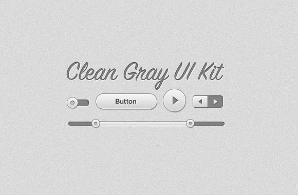 Clean Gray UI Kit