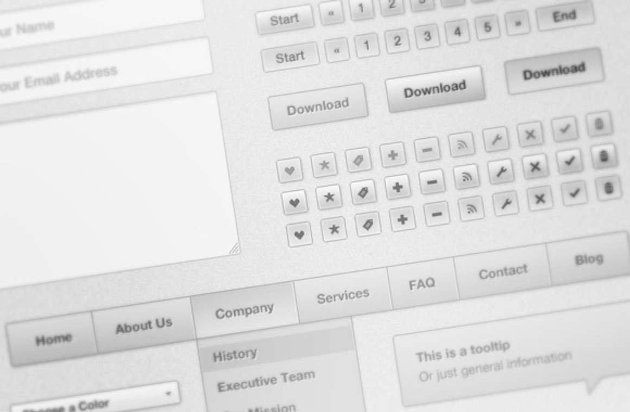 Soft White HTML/CSS UI Kit