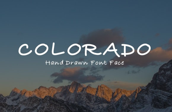 Colorado - A Hand Drawn Type Face