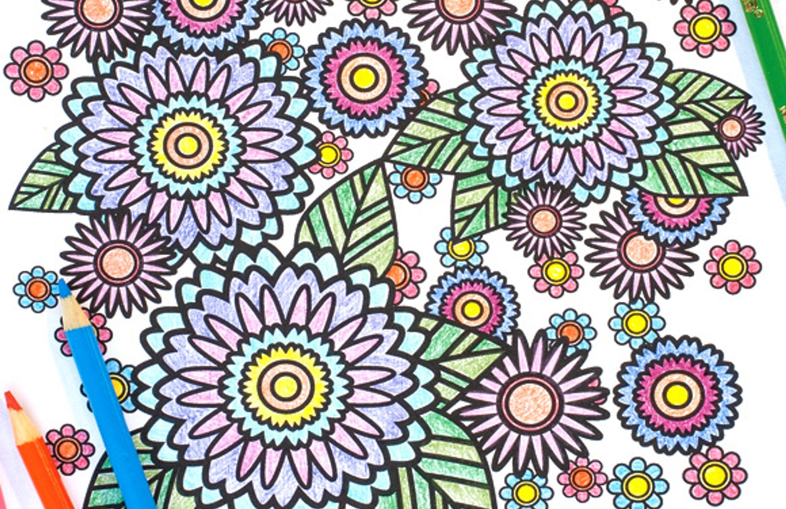 Stress Relief Coloring Pages Medialoot
