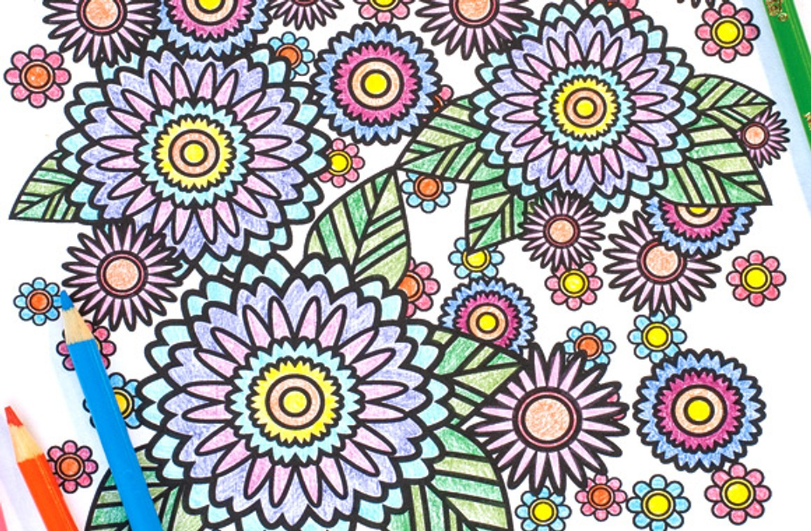 Stress Relief Coloring Pages