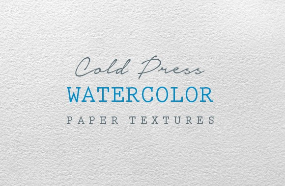 Cold Press Watercolor Paper Textures