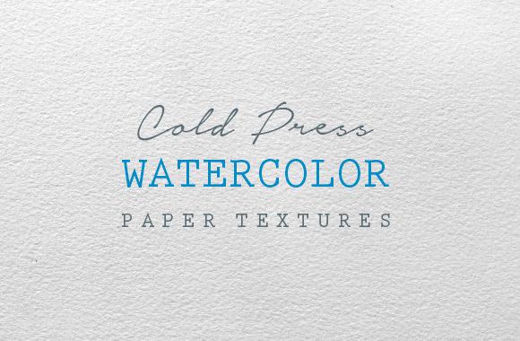 Cold Press Watercolor Paper Textures - WeGraphics