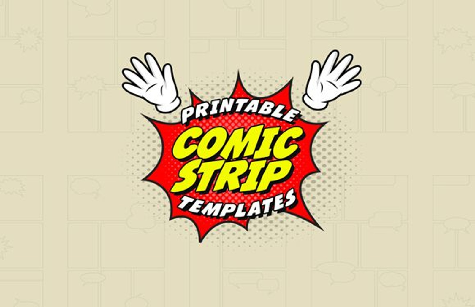Comic Strip Templates 1