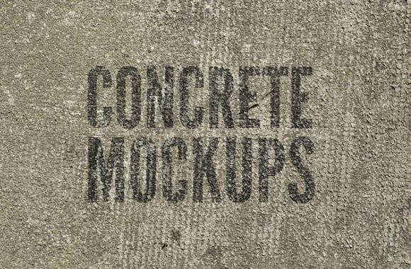 Free Concrete Mockup PSDs