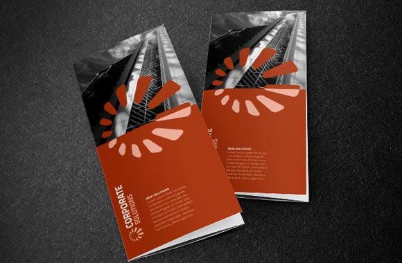 Tri-Fold Corporate Brochure Template
