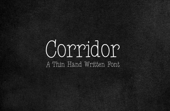 Corridor - A Thin Hand Written Font