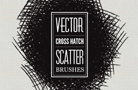 Vector Cross Hatch Scatter Brushes