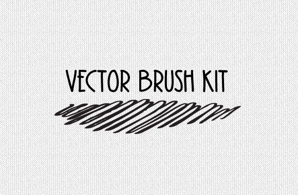 Vector Cross Hatch Brush Kit