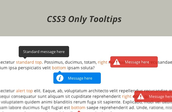 CSS3 Only Tooltips