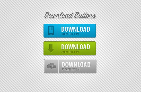 Clean Download Buttons