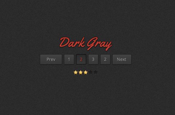 Dark Gray Web UI Kit - PSD File