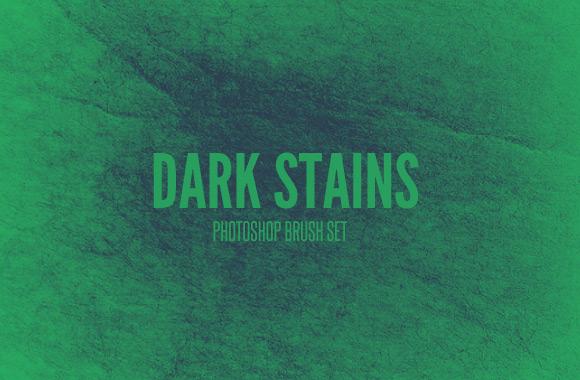 Dark Stains - Photoshop Brush Set
