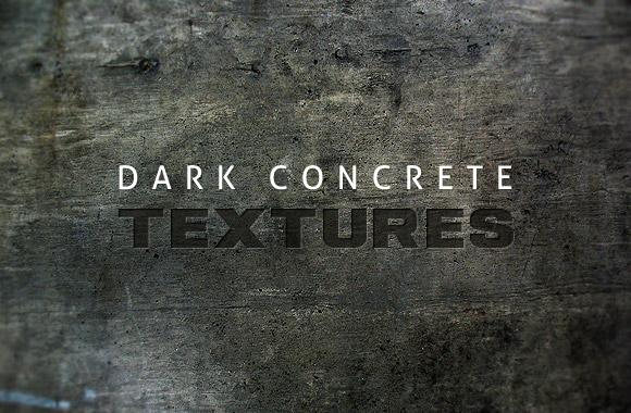 Dark concrete textures