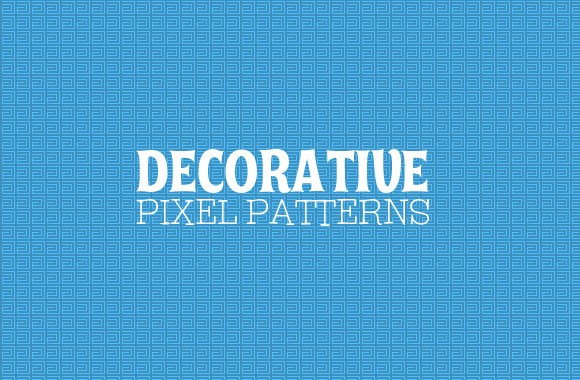 Art Deco Pixel Patterns