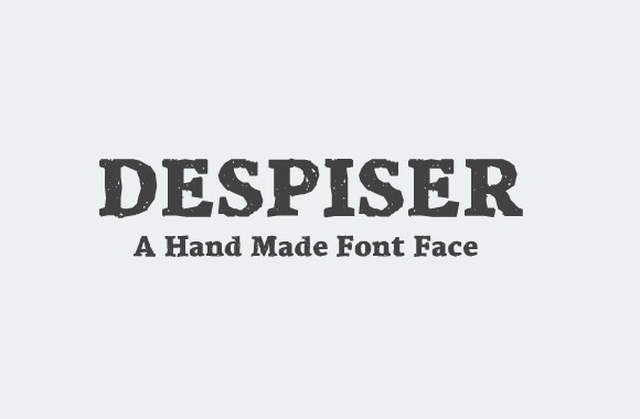 Despiser - A Hand Made Font Face