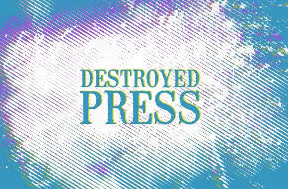 Destroyed Press Photoshop Brushes
