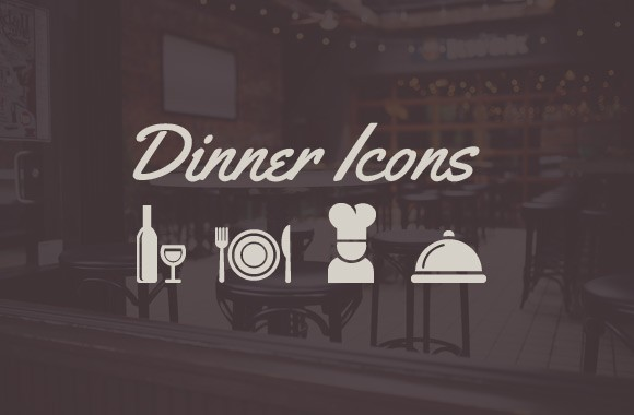 Dinner Icons - Vector Set