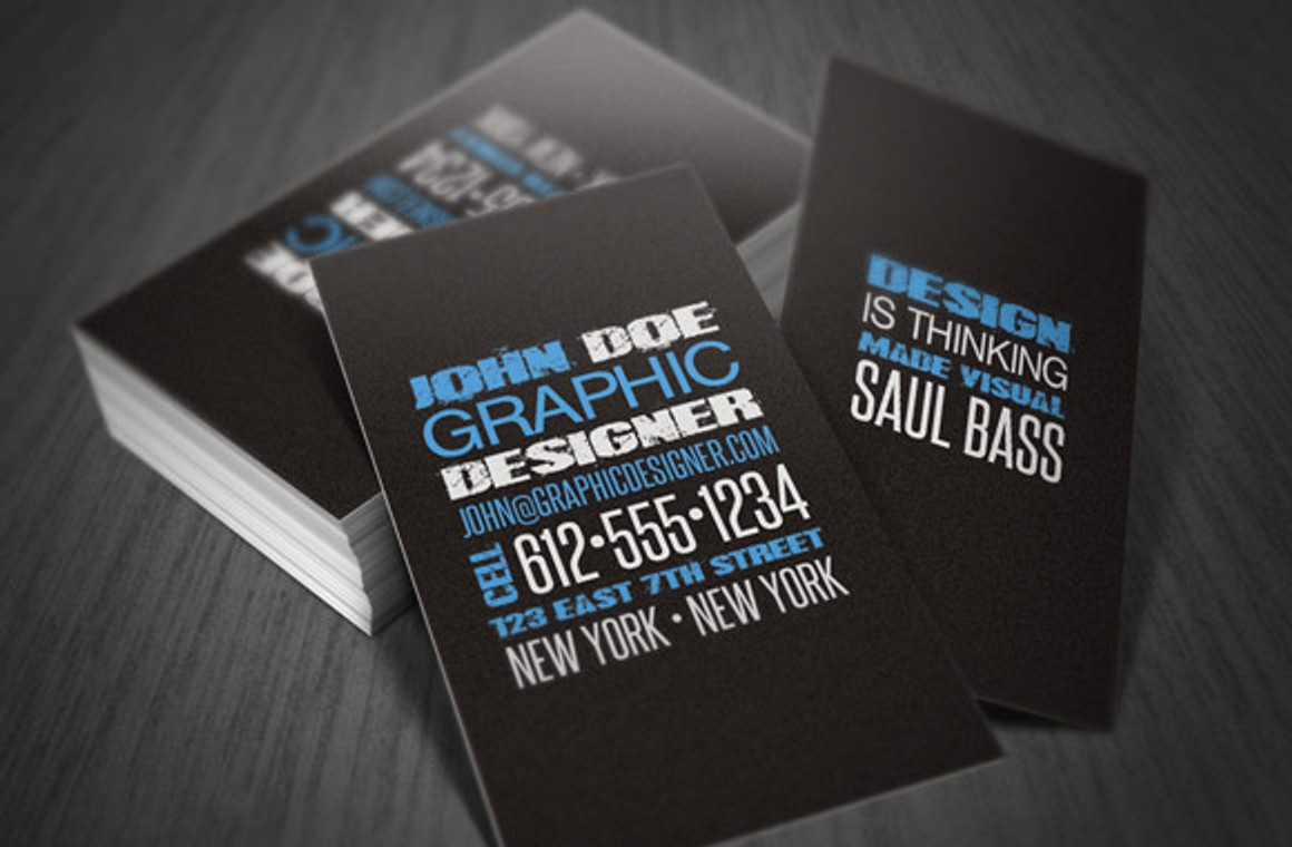 Distressed Type Business Card Template
