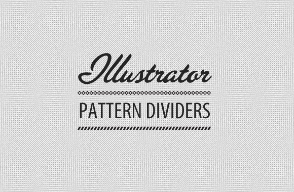 Divider Patterns Illustrator Brush Set
