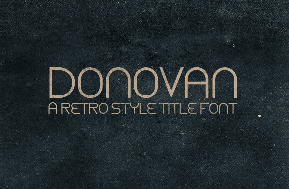 Donavon - A Retro Style Title Font