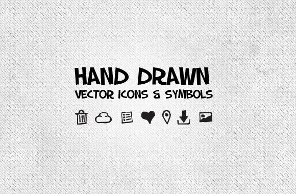 50 Hand Drawn Vector Icons & Symbols