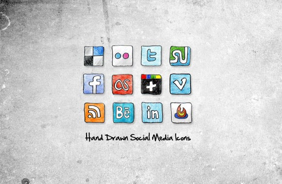Sketched Social Media Icons