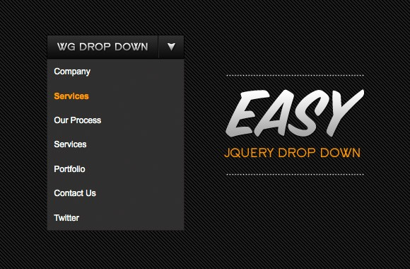 Easy jQuery Drop Down Menu