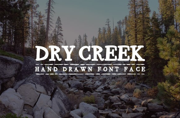 Dry Creek - Hand Drawn Font Face