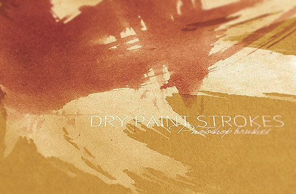 Dry Paint Strokes Brushes Vol1