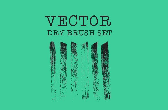 Vector Dry Brush Set