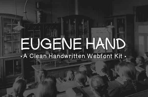 Eugene Hand - A Clean Handwritten Webfont Kit
