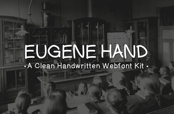 Eugene Hand - A Clean Handwritten Webfont Kit
