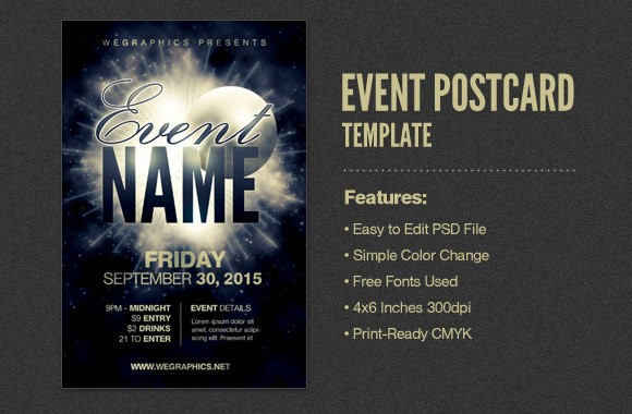 Event Postcard / Flyer Template Vol2