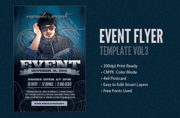 Event Postcard / Flyer Template Vol3