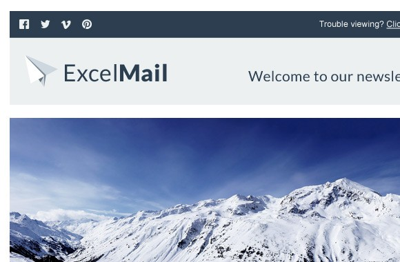 ExcelMail - Email Newsletter PSD Template