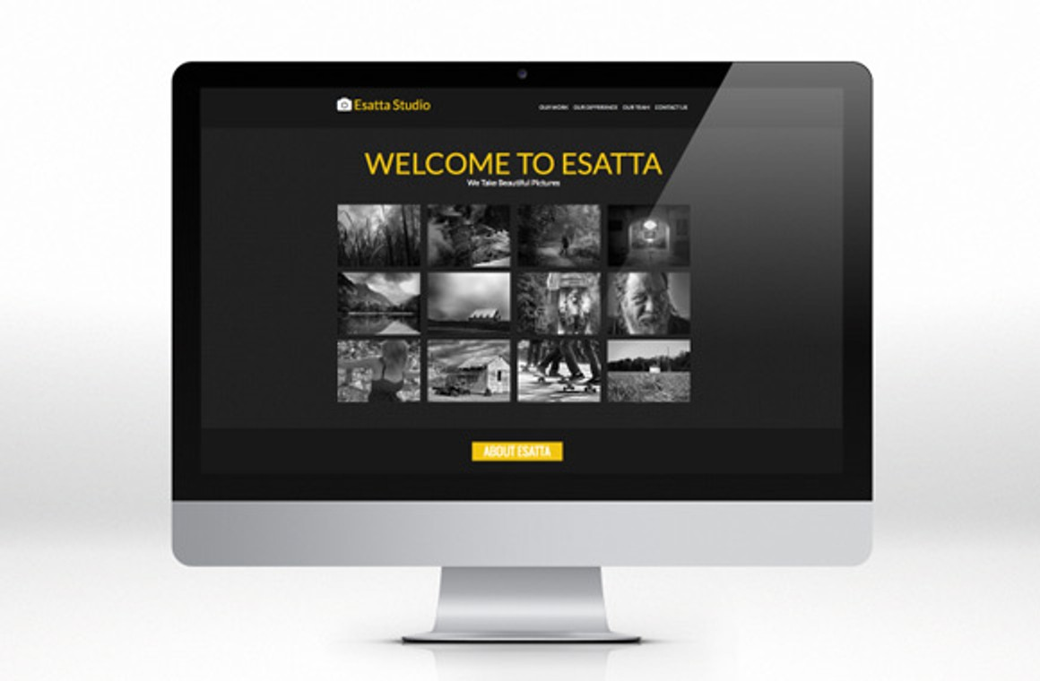 Esatta - One Page HTML Template