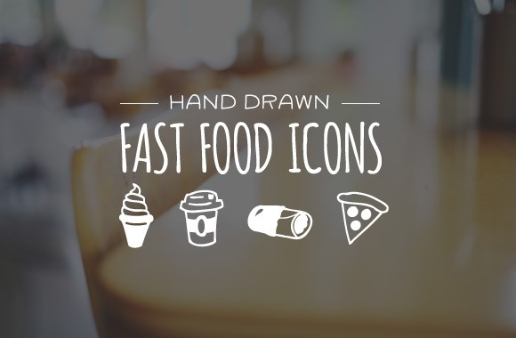 Hand Drawn Fast Food Icons