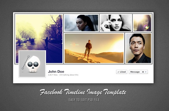 Slick Facebook Timeline Cover Template