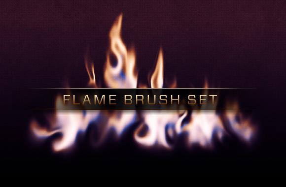Photoshop Flames Brush Set