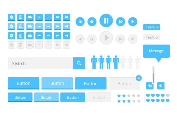 Flat Style Web UI Kit