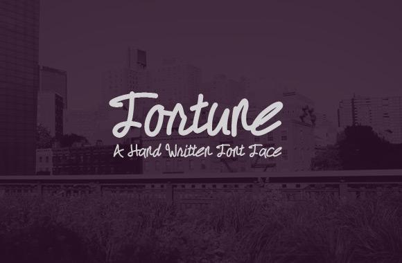 Fortune - A Hand Written Font FAce
