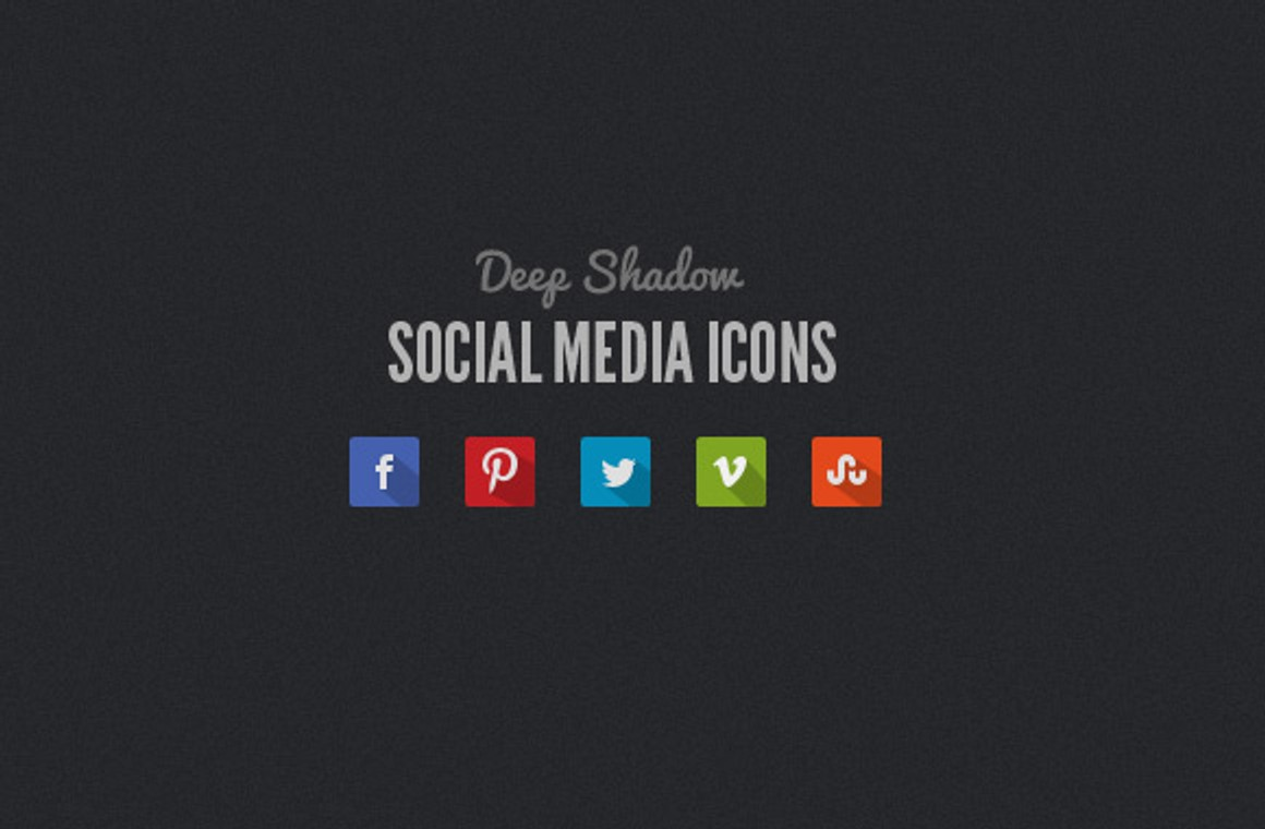 Free Long Shadow Social Media Icons