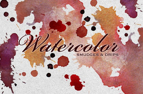 Free Watercolor Smudges - Vectors, Textures and Brushes