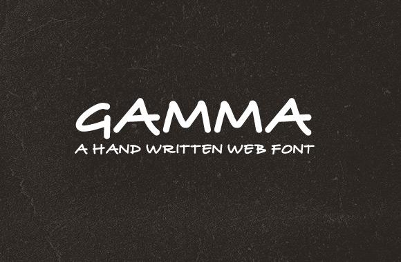Gamma - Hand Written Web Font