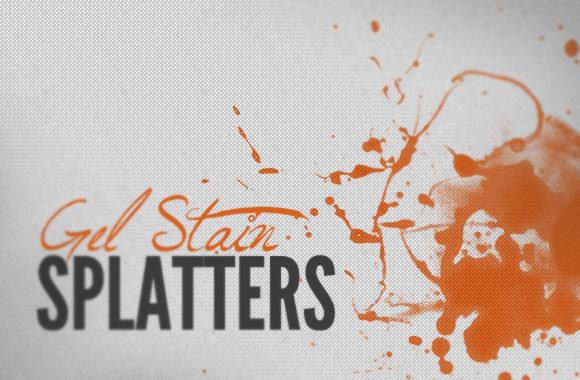 Gel Stain Splatters - Brush Kit