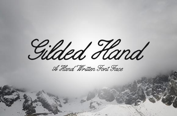 Gilded Hand - Script Font