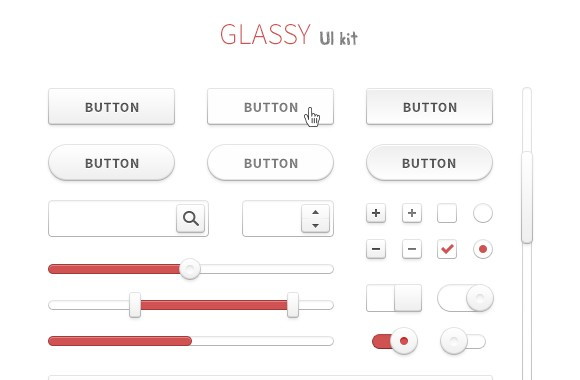 Glassy UI Kit