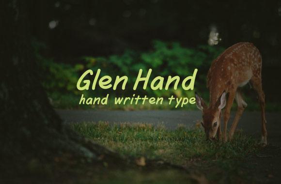 Glen Hand Font Face
