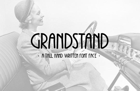 Grandstand - A Condensed Handwritten Font Face